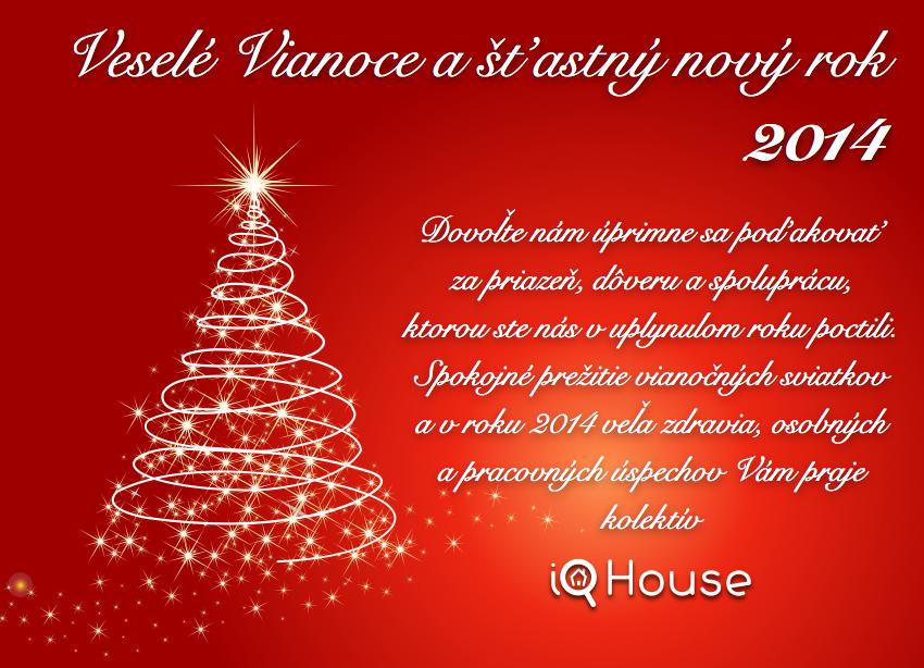 Veselé Vianoce a šťastný nový rok 2014